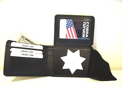 """Security Officer 7Point Star Badge ID Wallet BI-FOLD B-447 2 3/4"""" x 2 3/4 CT-83"""