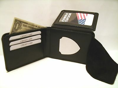 Chilean Firefighter Badge ID Wallet - Credit Card- Money CT-83 Leather