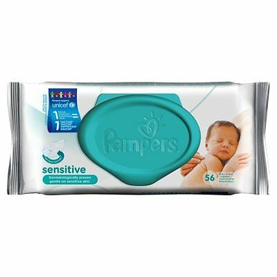 Pampers Feuchte TŸcher Sensitive, 56 StŸck