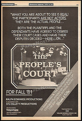 THE PEOPLE'S COURT__Original 1981 Trade AD poster__TV promo__JUDGE JOSEPH WAPNER