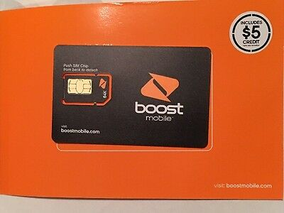 1 Boost Mobile 64k Sim Card. OEM. Boostmobile. Comes With $5!!