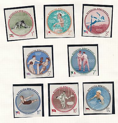Dominican Republic  1960  Olympic Imperf Set  Mnh