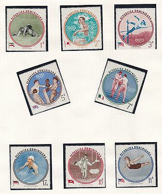 Dominican Republic  1960  Olympic Game Set   Mnh
