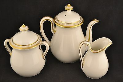 Antique Limoges H&Co teapot, sugar, creamer  ND2865