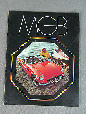 1973 MGB Original BROCHURE~~8 Pages