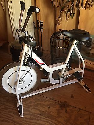 4cda8cc048a Vintage Schwinn XR-8 Exerciser Stationary Bicycle White Exercycle XR8 Rare