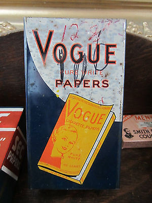Tin Dispencer Vogue Tobacco Cigarette Papers Display 1950's Rare