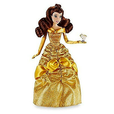 DISNEY STORE BELLE 12 inch CLASSIC DOLL WITH CHIP Princess Beauty toy Figure