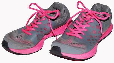Nike Girls Size 6 Youth Breathable Hot Pink Gray Athletic Running Shoes