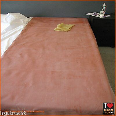 Genuine mackintosh rubber bed protector - clinical red - Q1