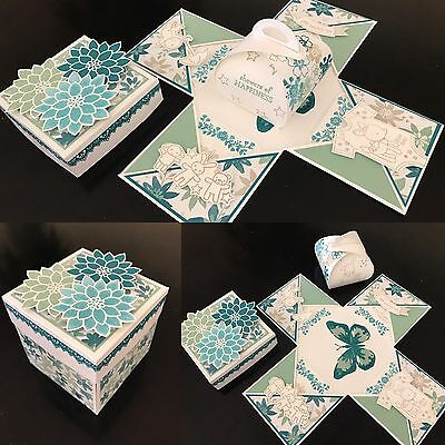 Handmade Explosion 3D Card In A Box Baby Shower Wedding Engagement Sympathy
