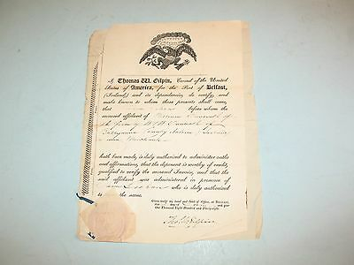 1838 IRISH LINEN INVOICE PAPERS~BALLAMENA to CUSTOM HOUSE,PHILADELPIA ~ RARE SIG