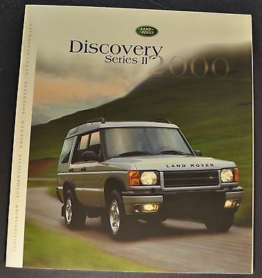 2000 Land Rover Discovery Series II Catalog Brochure 4x4 Excellent Original