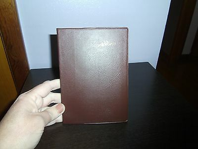 Address Book with Vinyl Cover/Brown