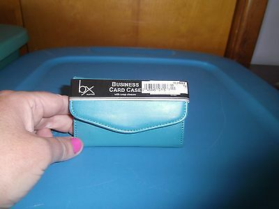 (NEW) Buxton--Teal Leather Business Card Holder