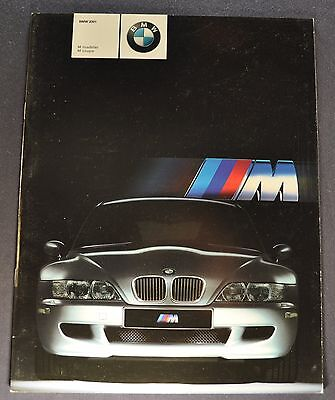 2001 BMW M Roadster & Coupe Catalog Sales Brochure Excellent Original 01