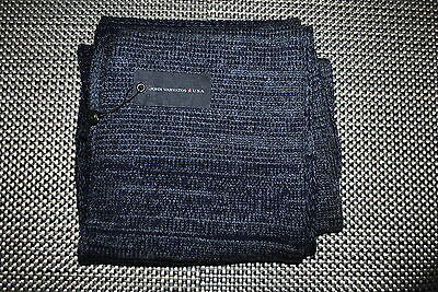 John Varvatos Mens Designer Wool/cashmere Scarf Color Blue/gray Rp $125.00 Nwt
