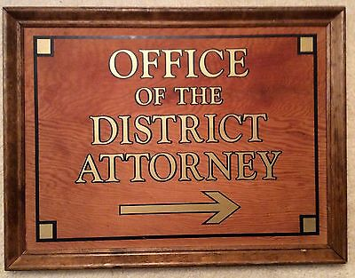 Attorney Lawyer - Office of the District Attorney Wooden Sign