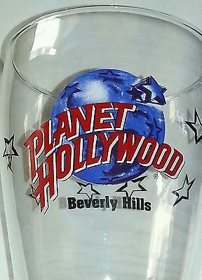 Planet Hollywood Beverly Hills Pilsner Beer Glass 20oz Souvenir Mint Condition