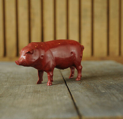 Vintage Red Pig Rattle Plastic ...Neat!