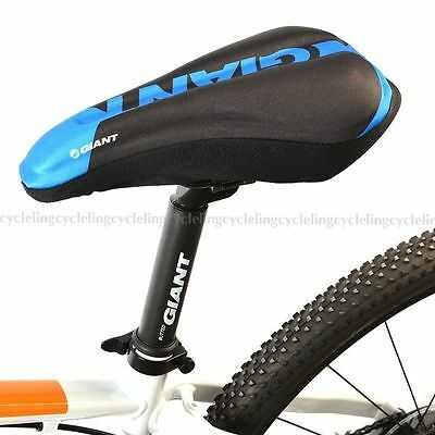 GIANT Cycling Bike 3D Silicone Gel Pad Seat Saddle Cover Soft Cushion Blue Small