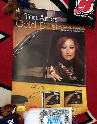 TORI AMOS SIGNED GOLD DUST PROMO POSTER Genuine autograph