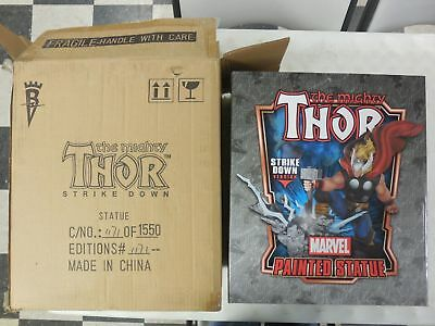 BOWEN Mighty THOR Hammer Strike Down STATUE ~NEVER DISPLAYED Marvel Comics