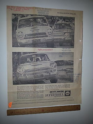 Shell advert with Cortina  newspaper Advert from National Observer Oct 1965