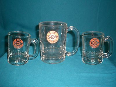Vintage A&w Root Beer Mugs - 2 3 1/4 Inches Tall & 1 4 1/4 Inches Tall - Nice!