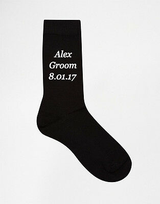 Groom Groomsman Bestman Wedding Personalised Socks Grooms Party Gift