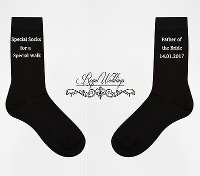 Special Socks For A Special Walk Father Of The Bride Socks Wedding Socks