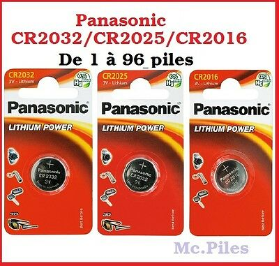 piles cells boutons panasonic 3v lithium cr2032 cr2025 cr2016 free shipping eur 1 00. Black Bedroom Furniture Sets. Home Design Ideas
