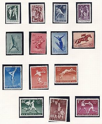 Bulgaria  1950 - 56    Various Sports Sets Mh & Used