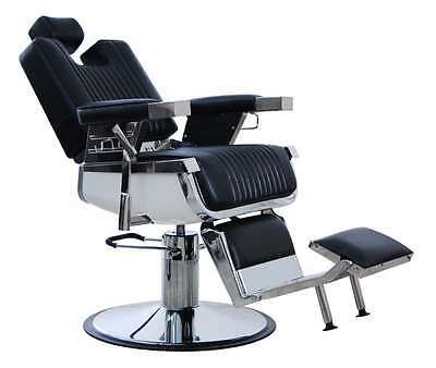 New Heavy Duty Black Hadi® Uk Barber Chair Bc-20,cash On Collection Only