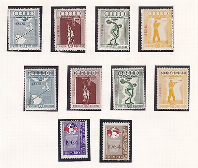 Peru   1948 - 56  Olympic Game Set & Melbourne O/p Set Mnh