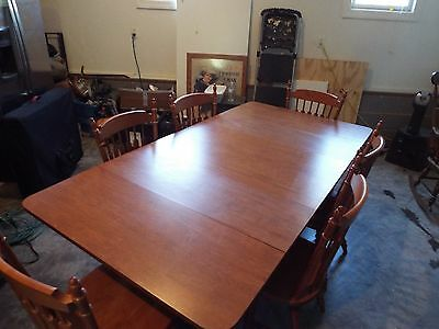 Tell City Hard Rock Maple Dining Table, Chairs