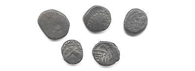 Lot Of 5 Ancient Kushan-India Tiny Coins(Cns 545)