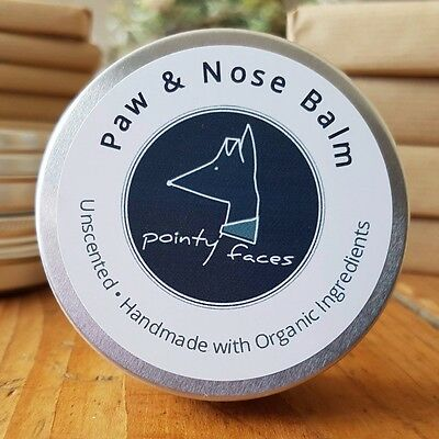 Dog Paw & Nose Balm Organic Unscented - for Soothing Dry Skin, Paws & Noses