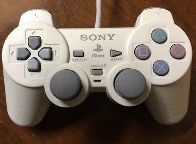 PS1 PsOne Original Controller Weiss Analogsticks Sony PlayStation 1 SCPH-110