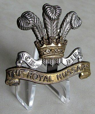 U.K Great Britain British Army The Royal Hussars Regiment Cap Badge