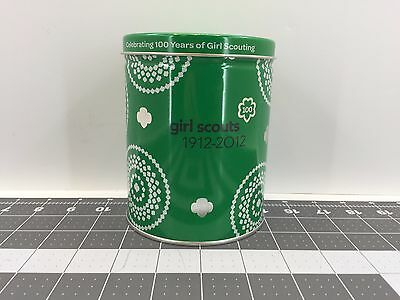 Girl Scout 1912-2012 Centennial Green Round Cookie Tin *RARE* FREE US SHIPPING