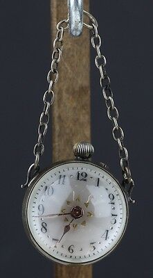Antique Very Rare Lovely Orb Globe Visible Movement Pocket Watch