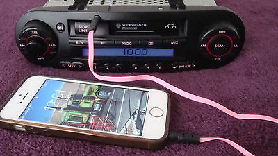 VW Volkswagen Beetle stereo Radio casette AUX ipod extenal audio input