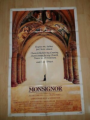 MONSIGNOR 1982 Original Folded One Sheet Movie Poster Christopher Reeves Perry