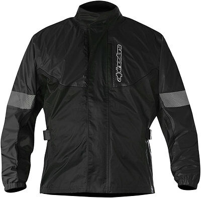 Alpinestars HURRICANE Waterproof Motorcycle Rain Jacket (Black) M (Medium)