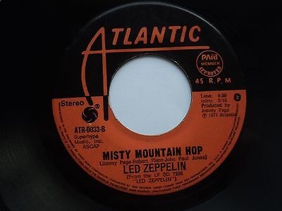 Led Zeppelin - Black Dog/ Misty Mountain Hop - Rare / Unknown PHILIPPINES 45 RPM