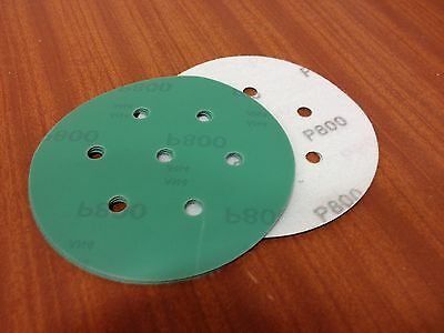 "P800 velcro abrasive discs   150mm 7 hole  Pack (15)    6"" Sanding Film Pads"