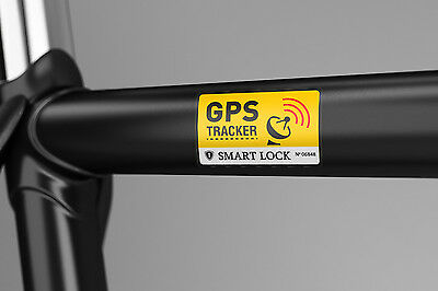 2x ANTI THEFT BIKE GPS STICKER -GPS Tracking, Strong Lock Alarm Remote Wireless