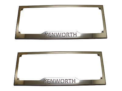 2x Kenworth Number Plate Surround Stainless Steel