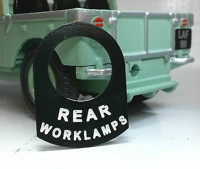 Land Rover Series Lucas Toggle Switch Badge Decal Label Rear Worklight Worklamps